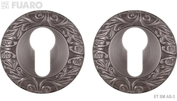 Накладка под цилиндр ET SM AS-3 античное серебро
