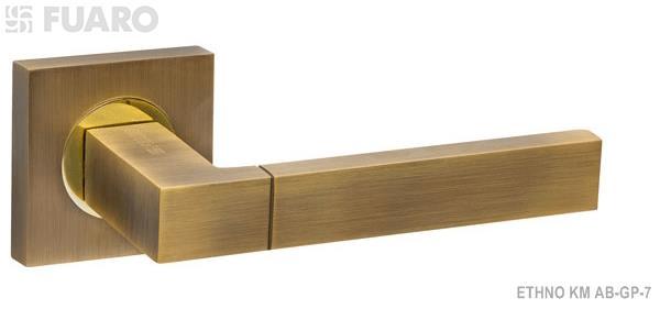 Ручка раздельная ETHNO KM AB/GP-7 бронза/золото