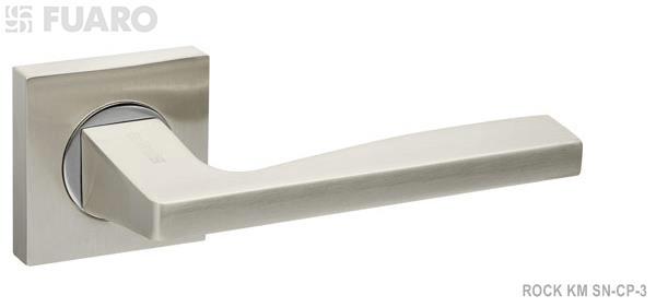 Ручка раздельная ROCK KM SN/CP-3 мат. никель/хром