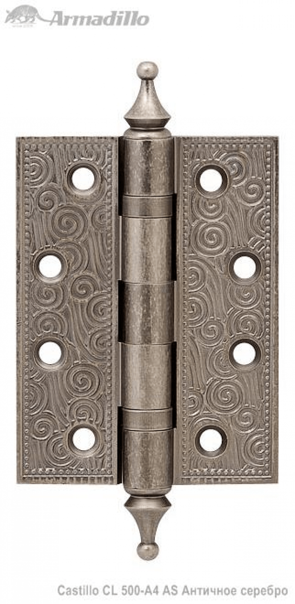 Петля универсальная Castillo CL 500-A4 102х76х3,5 AS Античное серебро