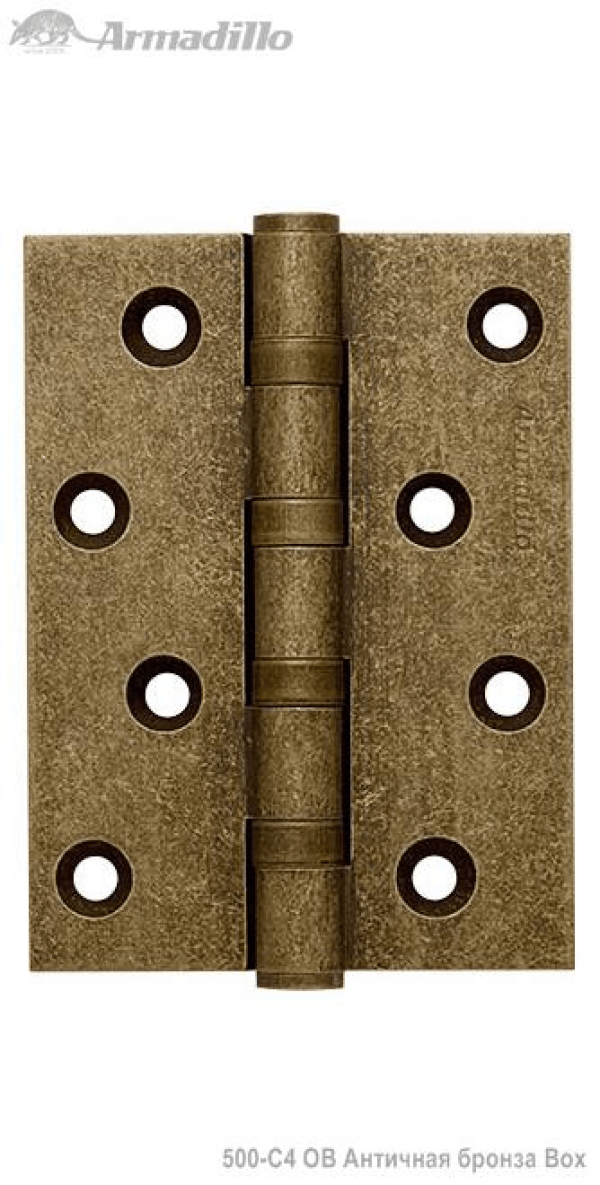 Петля универсальная 500-C4 100x75x3 OB Античная бронза Box