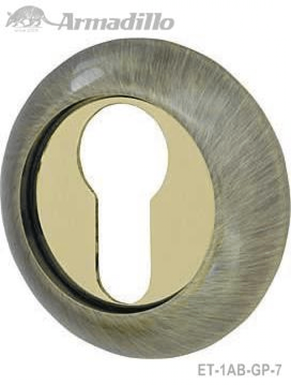 Накладка CYLINDER ET-1AB/GP-7 бронза/золото 2шт.