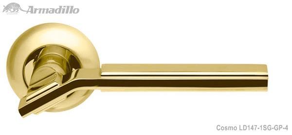 Ручка раздельная Cosmo LD147-1SG/GP-4 матовое золото/золото